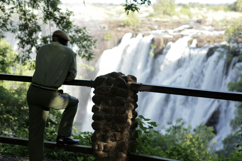 facing the falls